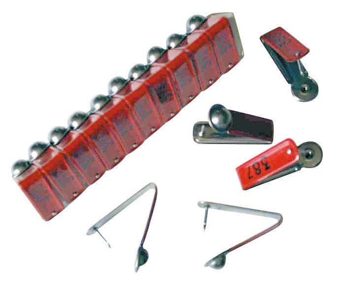 Metall-Ohrmarken, im Karton zu 100 Stück, Gelb MO 105