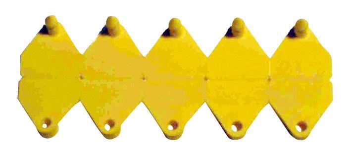 Kunststoff-Ohrmarken Mini-Neoflex Trapez, 73906 ROT