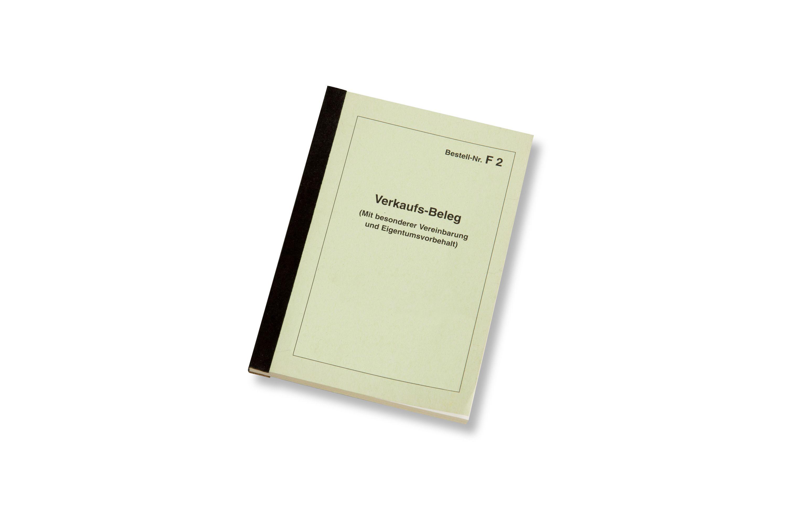 Verkaufsbeleg/Rechnung DIN A 6-Block F 2