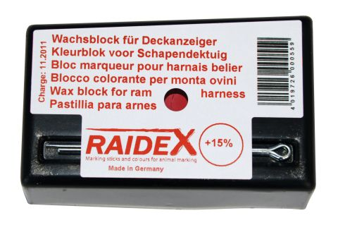 Deckgeschirr für Schafböcke-Farbblock ROT H 5400