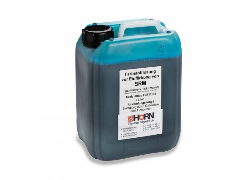 SRM-Farbstofflösung, 5 Ltr., Brillantblau FCF H 5815