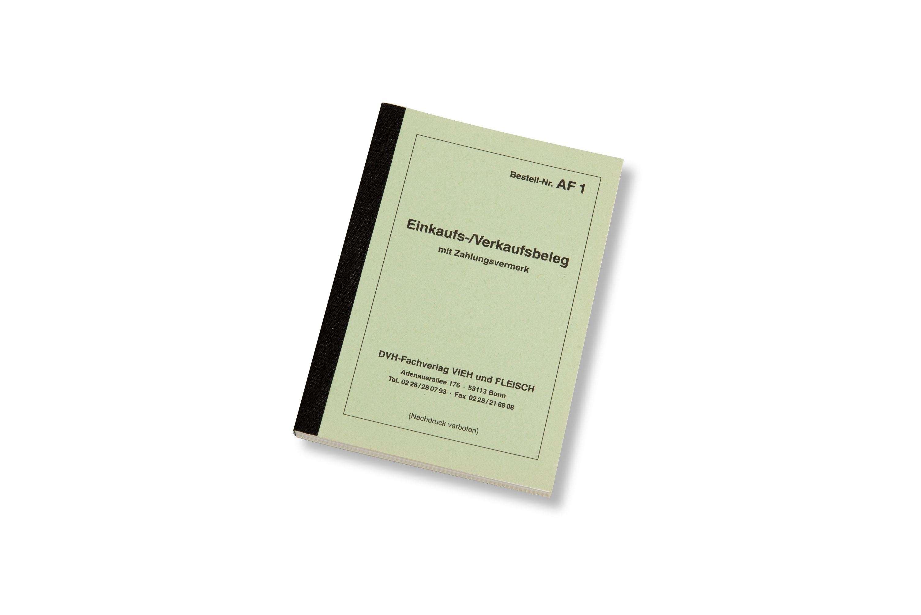Ein- und Verkaufsbeleg DIN A 6-Block AF1