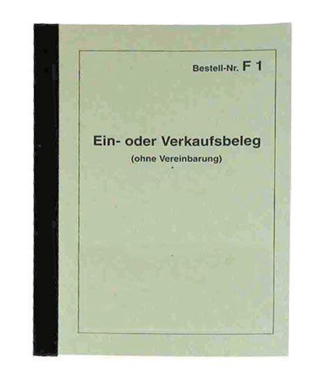 Ein- und Verkaufsbeleg DIN A 6-Block F 1