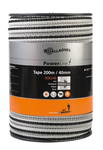 PowerLine Breitband 4 cm, 200m Weiß G2235