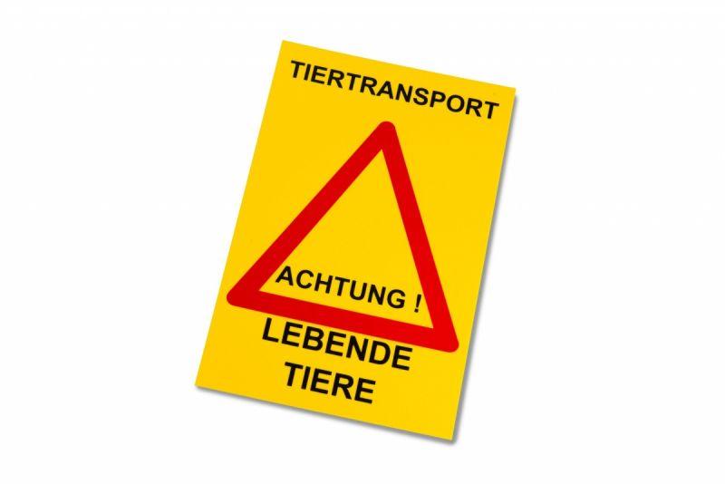 Tiertransport - Achtung! Lebende Tiere ST 155