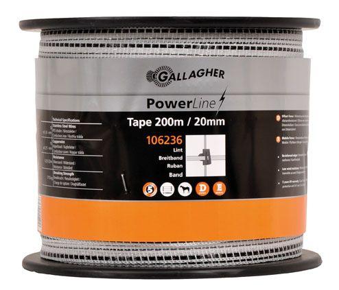 PowerLine Breitband 20mm, 200m weiß - G2234