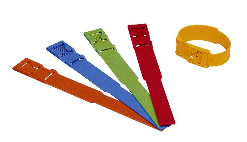Fesseleinzelband neutral, Kunststoff, 37 cm lang, F252 GRÜN