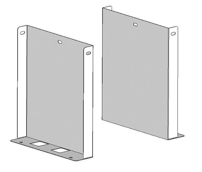 Satz Fußkonsolen aus Edelstahl für Modell 5900, 131.5901