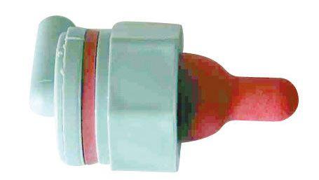 Lämmer- und Schafs-Artikel - Ventil mit Sauger, rot-HD 251