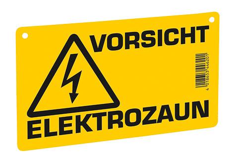 """Warnschild """"Vorsicht - Elektrozaun"""" EZ1"""