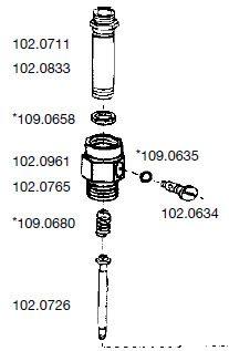 Einzelteile - Dichtungsgehäuse, Messing, 1020729