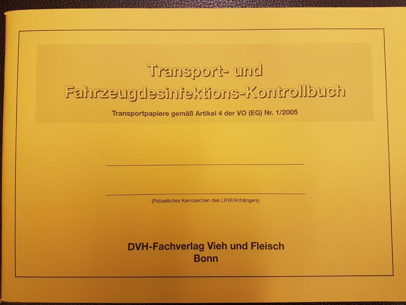 Transport- u. Fahrzeugdesinfektions-Kontrollbuch DIN A 5 KB1