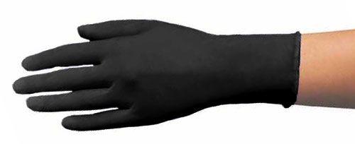 Handschuhe NITRIL, schwarz, puderfrei, HY 1490 Größe S