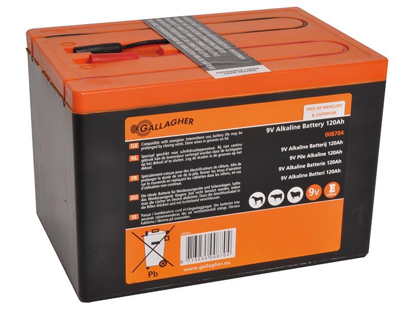 Gallagher Alkaline Batterie 9V, 120Ah G8704