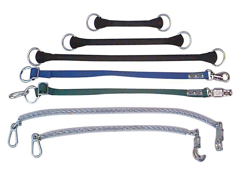 Halsanbindungen - Anbinderiemen mit Wirbelpanikhaken H 3220
