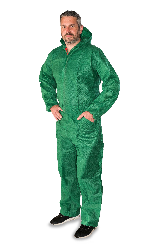 Schutzkleidung - Mehrweg-Overall, Größe XL, HY 1354 WEISS