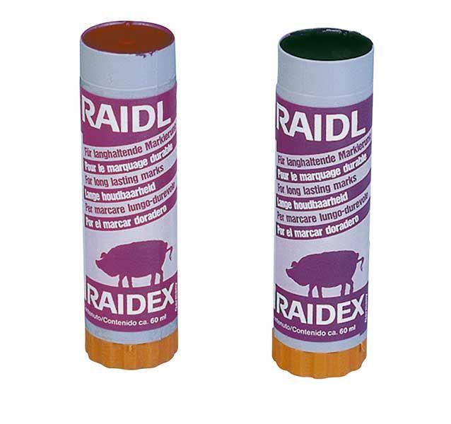 Raidl-Spezial-Viehzeichenstifte, Karton zu 10 St., ROT, H515