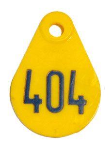 Halsschilder oval F 105 GELB