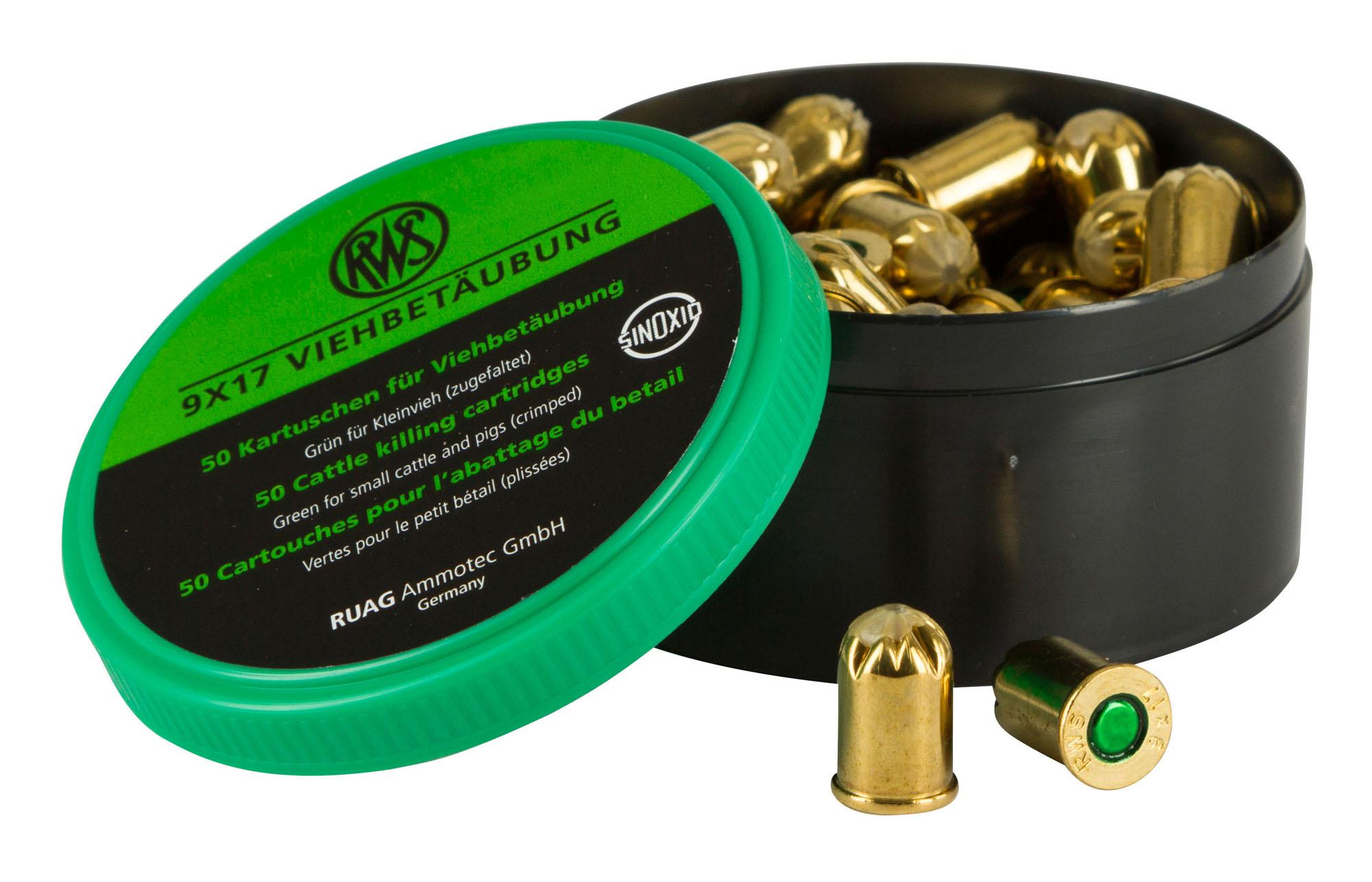 Patronen für 9mm Viehbetäubungsgerät, für Kleinvieh 23904