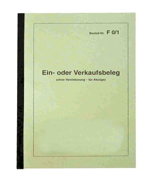 Ein- und Verkaufsbeleg DIN A 5-Block FO 1